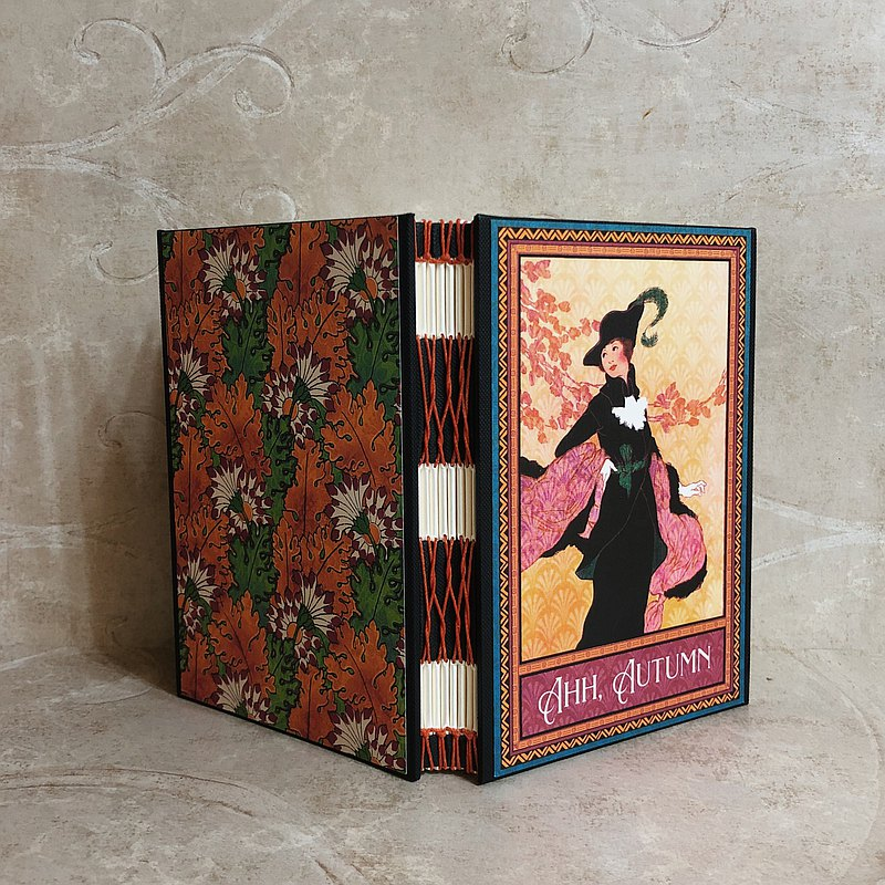 Miss Crocodile Vintage Fashion French Handmade Book
