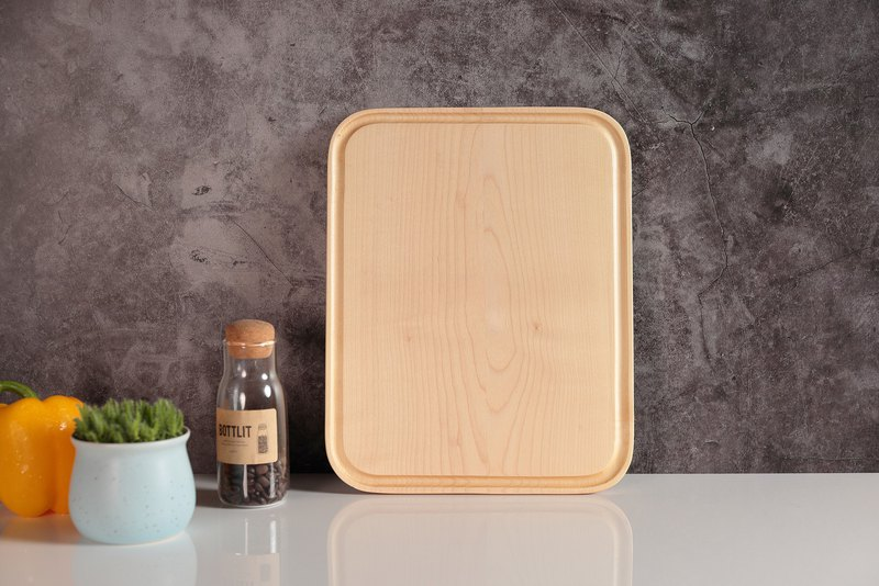 Simple Food Wind Chopping Board Long Plate (Beech / Maple)