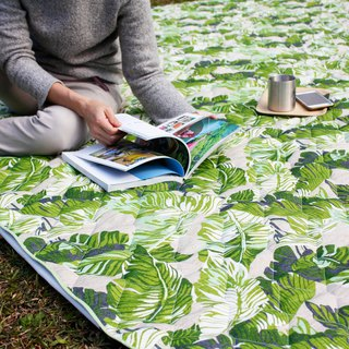 Huge extra-thick cotton picnic mat/tent mat (tropical rainforest)