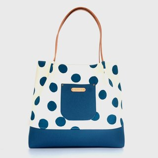 Button spot tote bag/shoulder bag/handbag handmade canvas button spot
