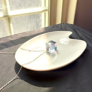 Aurora Crystal Ice Cube Clavicle Necklace Silver Chain Gift Free Packaging Limited Quantity