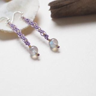 Madagascar Labradorite | Natural Stone | Hand-knitted earrings