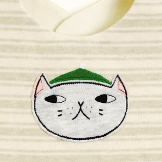 Hat cat bib bib saliva towel