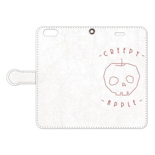 [Handbook type iPhone case] Creepy apple 2