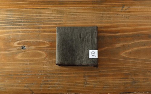 Plant dyeing organic linen handkerchief mill color × tea edge