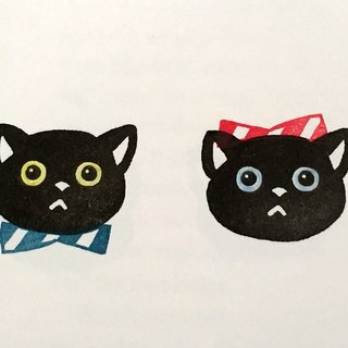 Boy? Girl? Cat stamp & ribbon Hanko