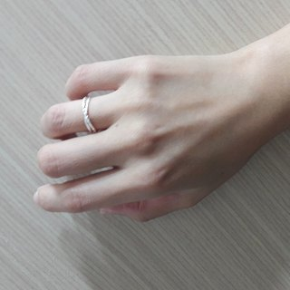 Fine sweet sterling silver line ring (activity circumference) jewelry accessories gift box group