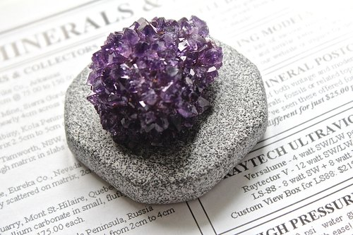 Stone flower plant SHIZAI ▲ Uruguay Amethyst (with stand) ▲