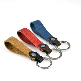 [U6.JP6 handmade leather] - imported leather handmade / hand made leather hand strap / brown / blue / red / for men and women