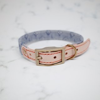 Dog collars, M size, Cowboy style, grey & blue_DCT090445