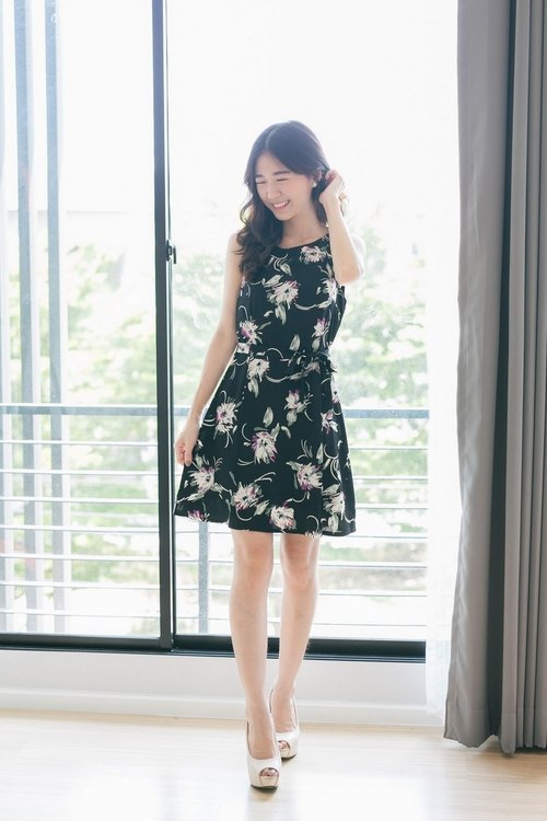 Blossom flare dress