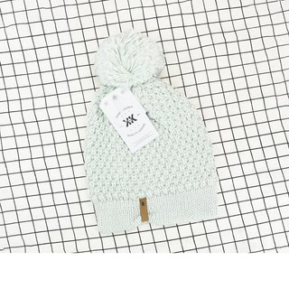 Handmade hook delicate wool cap Abby mint green spot - the United States Krochet Kids moral fashion brand counters