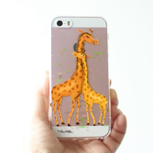 Giraffes Phone Case - it's about LOVE  (iPhone, Samsung, HTC, LG...)