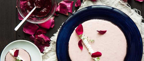 Raspberry & Organic Rose Towers Rose & Raspberry Tart