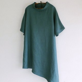 French Linen's One piece Antique green