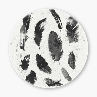Snupped Ceramic Coaster - 陶瓷杯墊 - Feathers