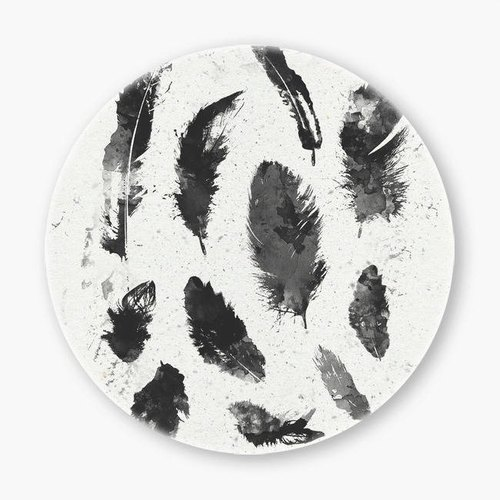 Snupped Ceramic Coaster - Feathers