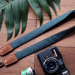 Deep Blue Denim Camera Strap