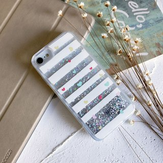 PATTERN LAB | Liquid Glitter Case for iPhone 6/6S/7/8 - Heart