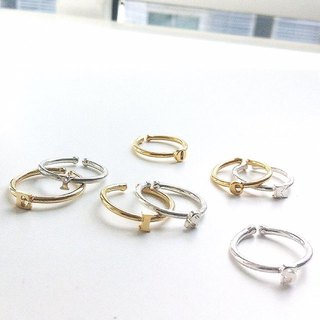 mini alphabet ring