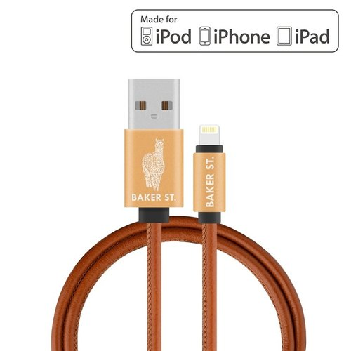 COLOR 4 U LIGHTNING TO USB CHARGE/SYNC LEATHER CABLE (1M)
