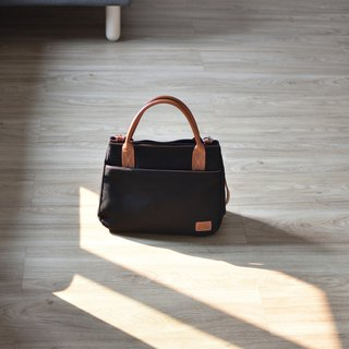 mono tote&shoulder bag - black