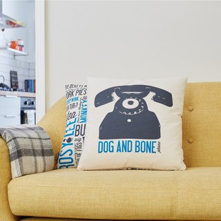 British egg hug pillowcase dog and bone
