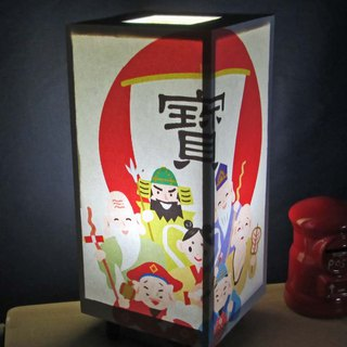 Seven Lucky Ship Ships Mikoshi Bean shape · LED decorative light stands the real pleasure!