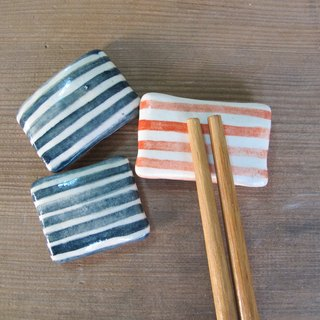 Striped pillow shape chopsticks holder