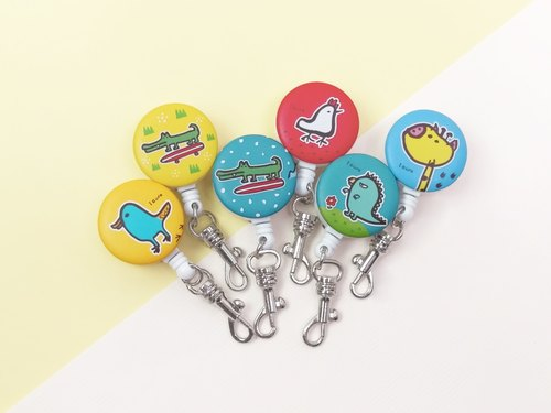 i good telescopic documents folder ticket clip clip - playful series (five + 1) chicken platypus giraffe crocodile Godzilla