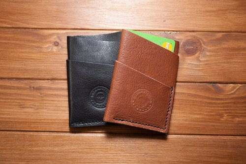 Dreamstation leather Pao Institute, Italian soft vegetable tanned leather handmade cards, business card holder, money clip
