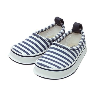 Japan SkippOn children's casual function shoes - navy blue stripes (17cm)