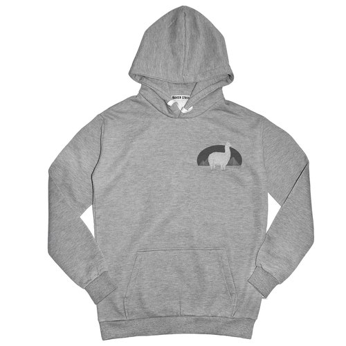 British Fashion Brand [Baker Street] Little Stamp:Alpaca's Journey Printed Hoodie