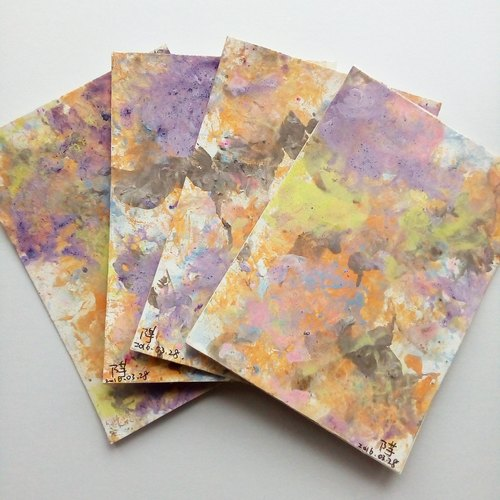 Hard to please yourself / hand-painted postcards (original)