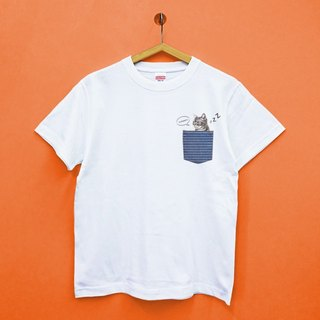 Pocket Pet Meow Meosh Sleep - Japan United Athle Pure Cotton Tensile T-Shirt
