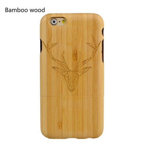 Personalized custom laser engraving natural antlers iPhone 6 / 6s / 6 plus / 6s plus / 7/7 plus wood dry Phone Case