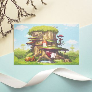 Mushroom Tree House GT Tree House - Card