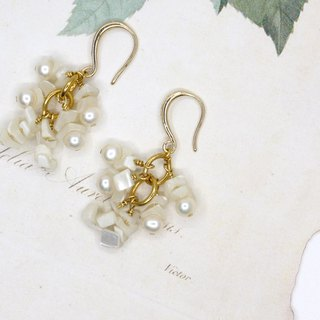 New Year pearl shell earrings ear clip