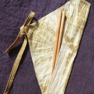 Plant dyeing / coloring - chopsticks bags