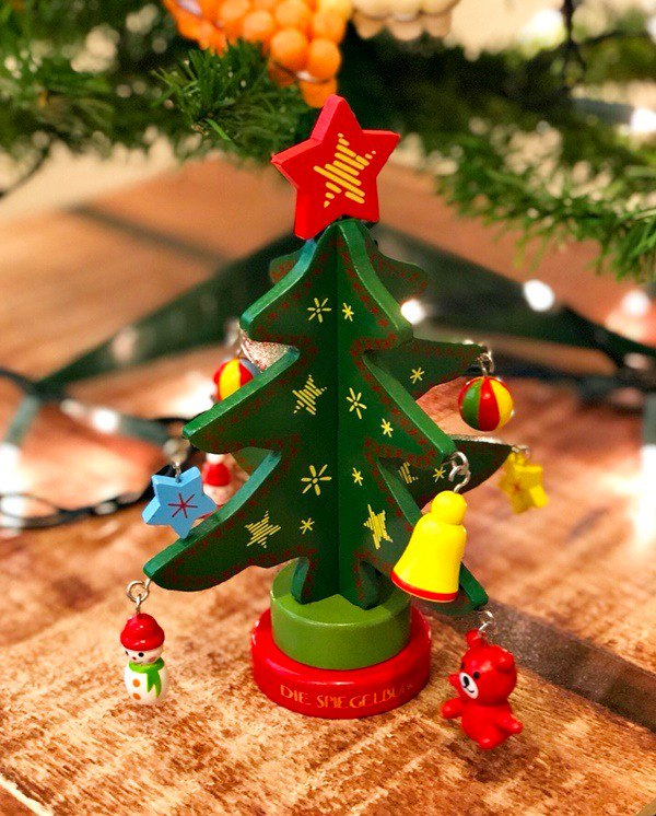 Spiegelburg wooden mini Christmas tree with ornaments - Designer Wonderfulselect | Pinkoi