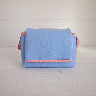 hairmo. Plain personality simple activities buckle zipper camera bag - light blue (monocular / class monocular / DC)