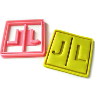 Custom Two Letters Monogram Cookie Cutter, Personalized with Your Initials