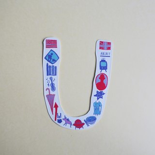 English alphabet stickers UW