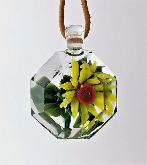 Glass Sunflower Pendant