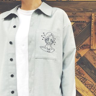 Exclusive illustrations Embroidered shirt