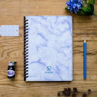 Love wind dust A5 marble sliding clip loose-leaf (paper 1.0 - pen for paper) - blue