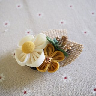 Handmade fabric flower hair accessories
