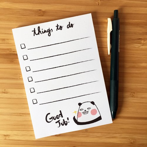 Good Job, Panda! To Do List Memo Pad