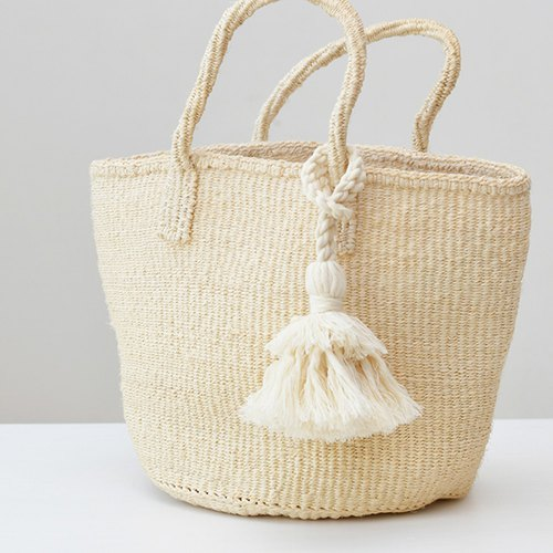 Tassel key chain/Hinoki cream
