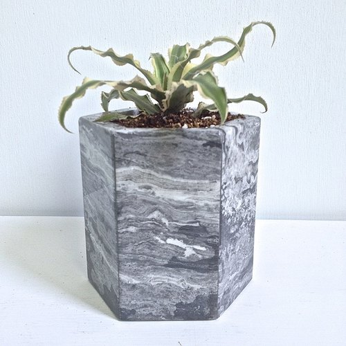 [Italian] Grey Italy Grey marble basin is potted flower home decoration